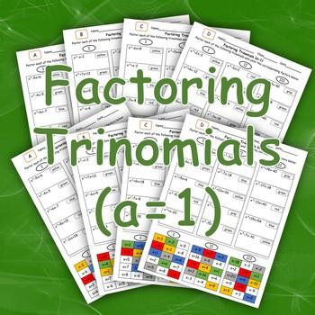 Factoring Trinomials (a = 1) Color Mosaic