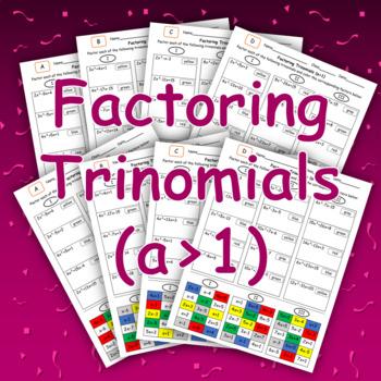 Factoring Trinomials (a > 1) Color Mosaic