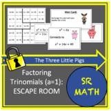 Factoring Trinomials (a=1) Escape Room: The Three Little Pigs