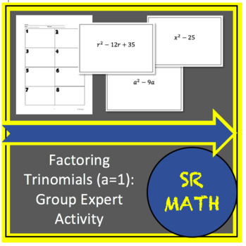 Factoring Trinomials (a=1) Group Expert Activity