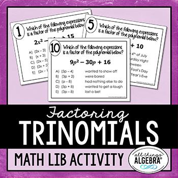 Factoring Trinomials (a > 1) Math Lib