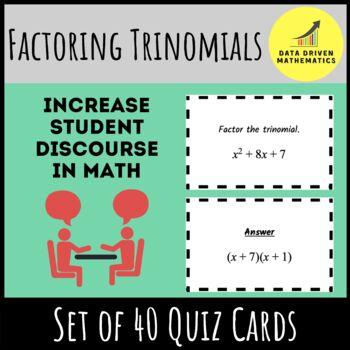 Factoring Trinomials Quiz Cards Activity