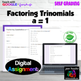 Factoring Trinomials a = 1 with Google™ Forms  Self Gradin