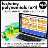 Factoring Trinomials (a>1) Digital Math Activity