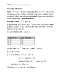 Factoring Trinomials for Middle and High School