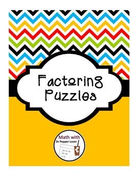 Factoring Trinomials using Puzzles