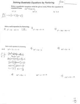 """Factoring Trinomials when """"a"""" is greater than 1 and more q"""