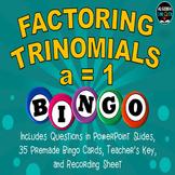 Factoring Trinomials BINGO (a=1)