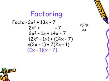 Factoring Trinomials with a Coefficient (PP)
