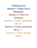 Factoring Polynomials Unit