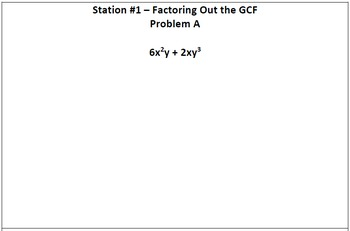 Factoring Unit Review - Stations Activity