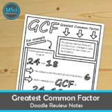 Factoring Using GCF Greatest Common Factor Doodle Sheet Math Coloring Notes