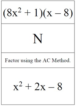 factoring using the ac method problem trail by tag team algebra