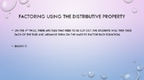 Factoring Using the Distributive Property Tile Game