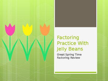 Factoring With Jelly Beans