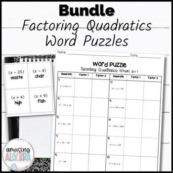 Factoring Word Puzzles Bundle