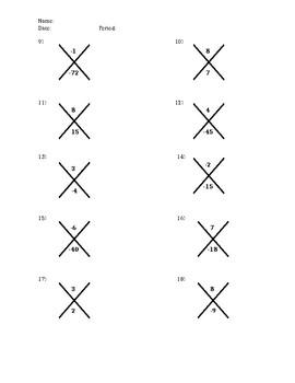 Factoring- X-puzzles
