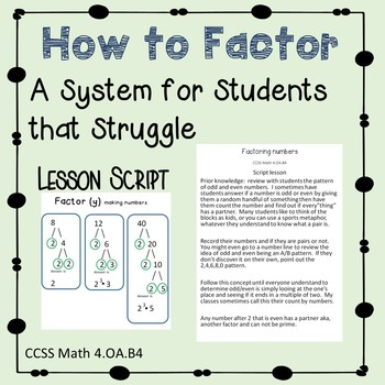 Factoring a system for students that struggle  504 and IEP