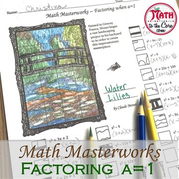 Factoring a=1 - Math Masterworks Coloring