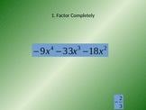 Factoring and Dividing Polynomials Carousel Activity