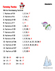 Factoring and Division Practice - Holiday Math Worksheet