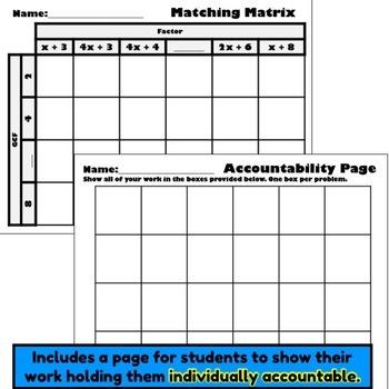 Factoring and Expanding Matching Matrix