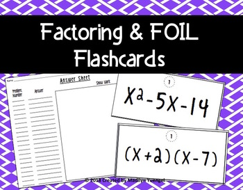 Factoring and FOIL Practice Problems
