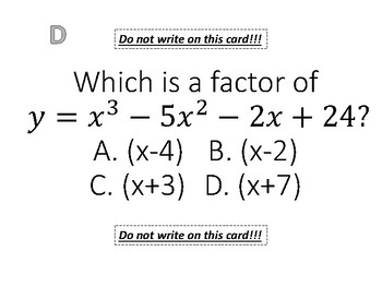Factoring and Graphing Polynomials