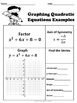 Quadratic Equations: Factoring and Graphing