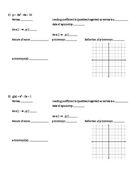 Factoring and Graphing Quadratics in Standard Form (a > 1) - Notes