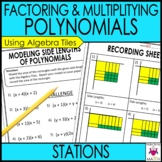 Factoring and Multiplying Polynomials Math Stations  :  Middle School Math