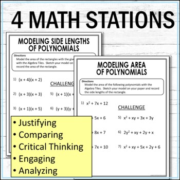Factoring and Multiplying Polynomials Stations