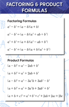 Factoring and Product - Math Poster