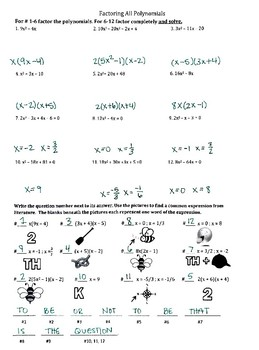 Factoring and Solving Polynomials Practice