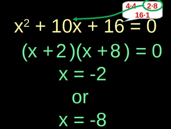 Factoring and Solving Polynomials - Trinomials Presentation