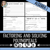 Factoring and Solving Polynomials Notes
