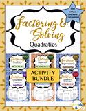 Factoring and Solving Quadratics Activity BUNDLE