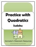 Factoring and Solving Quadratics - Sudoku Puzzle