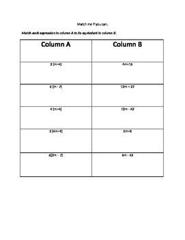 Factoring and Unfactoring Practice Worksheet