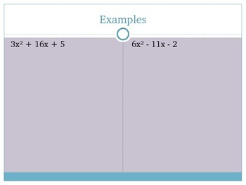 Factoring ax^2 + bx + c