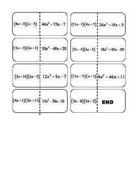 Factoring ax^+bx+c dominos