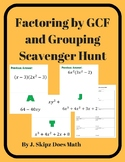 Factoring by GCF and Grouping Scavenger Hunt