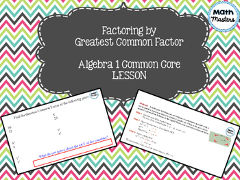 Factoring by Greatest Common Factor