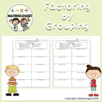 Factoring by Grouping, Algebra, Math