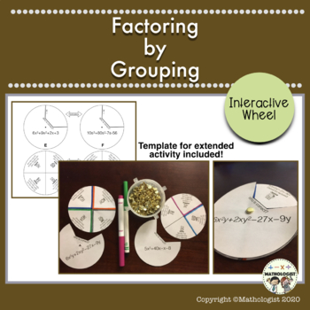 Factoring by Grouping, Algebra, Interactive Wheel