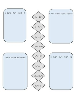 Factoring by Grouping Practice Activity