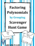 Factoring Polynomials by Grouping Scavenger Hunt Game
