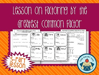 Factoring by the Greatest Common Factor (GCF) Lesson Plan