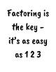 Factoring escape room!!