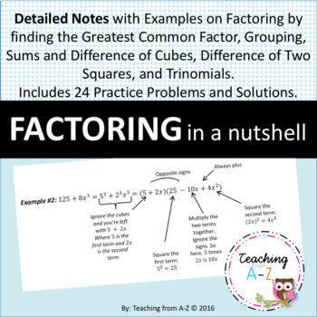 Factoring in a Nutshell: Notes and Problems with Solutions